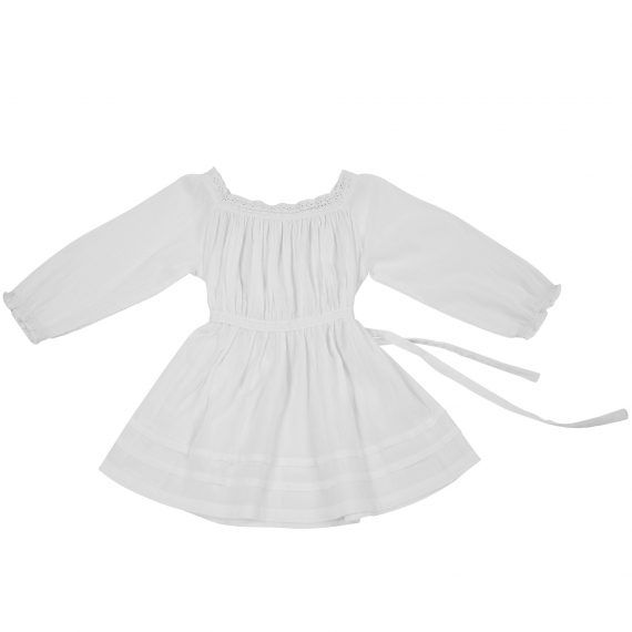 White Gauge Dress