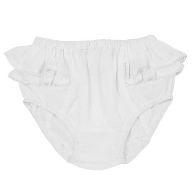 BB22 white gauze nappy pant